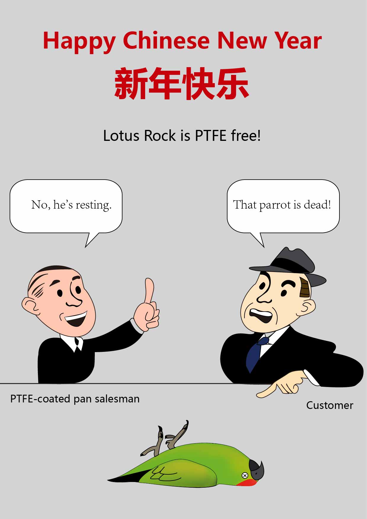 Lotus Rock is PTFE free!