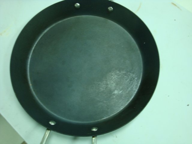 Oily stained marked pan